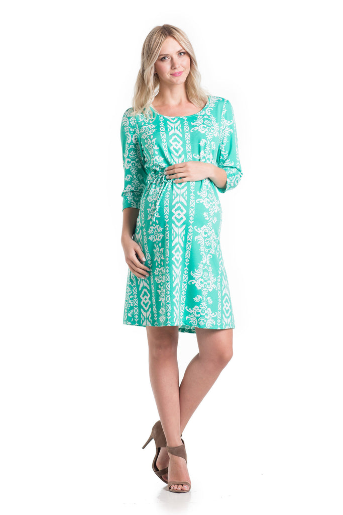 Shift Dress Teal Ikat