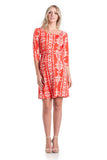Shift Dress Tomato Ikat