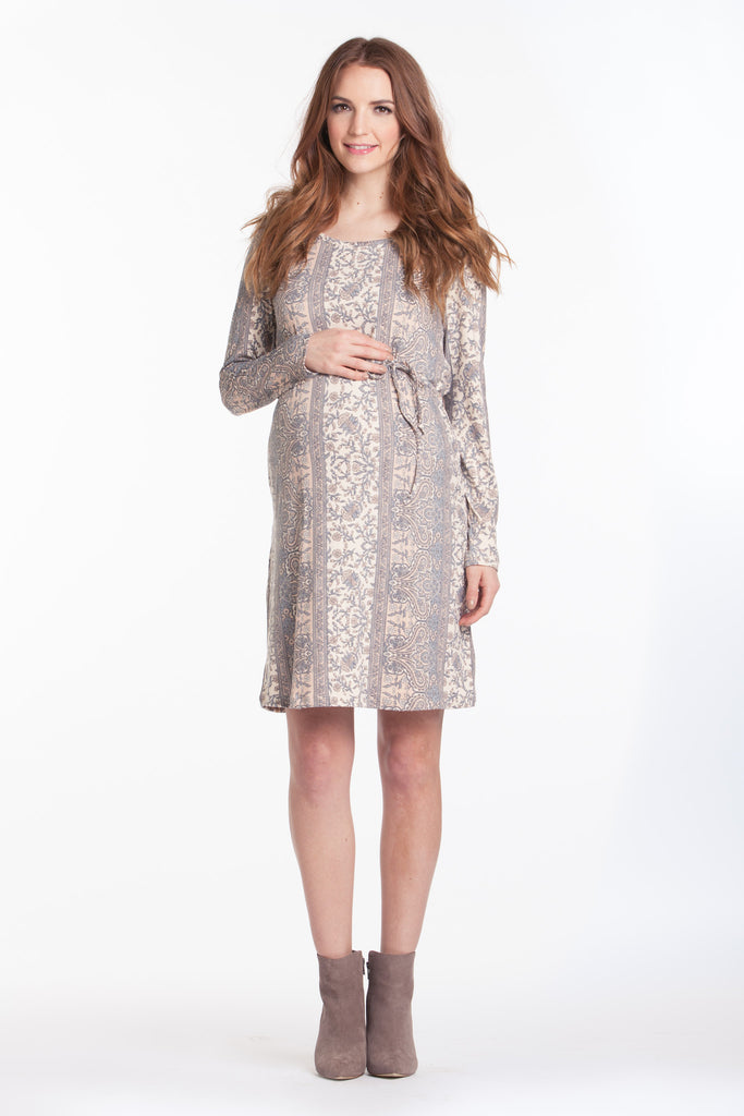Shift Dress Blush/Grey Paisley