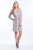 Shift Dress - Blush/Grey Paisley
