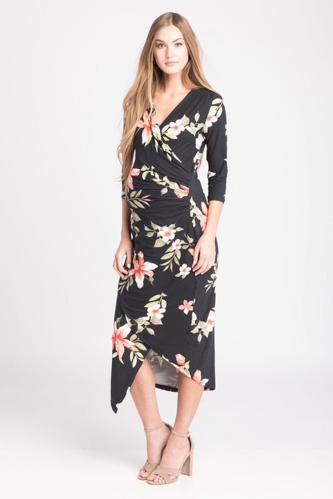 Carly Dress Black Floral