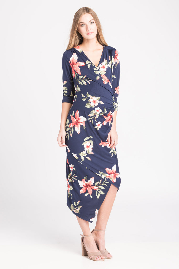 Carly Dress Blue Floral