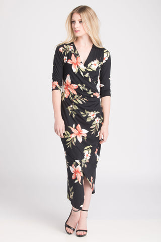 Carly Dress - Black Floral