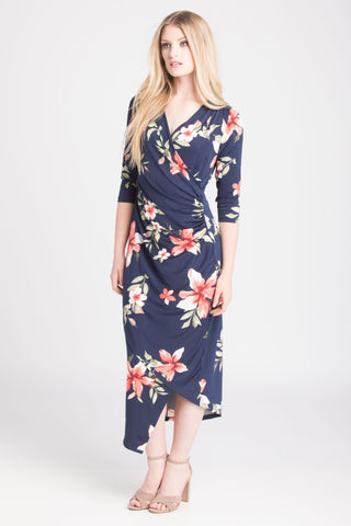 Carly Dress - Blue Floral