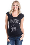 "Frenchie Tee ""Mom To Be"" Black"
