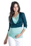 The Cassie Cardi in Teal Blue is a cropped cardigan that is perfect for women, pregnancy and nursing moms.