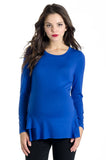 The Morgan Top in Royal Blue is a peplum top.  It is perfect for women and pregnancy.