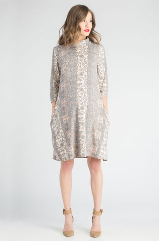 Mock Swing Dress Blush Paisley