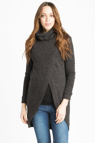 Sweater Tunic - Charcoal
