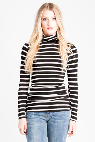 Turtleneck - Black/Ivory Stripe FALL