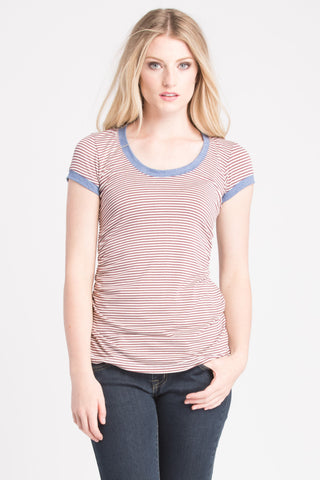 Hailey Top - Cinnamon Stripe