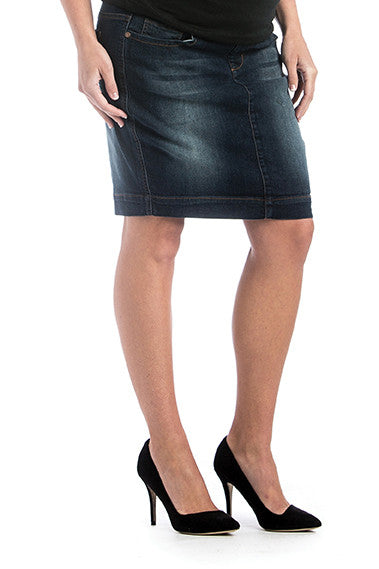 Denim Skirt Dark Wash