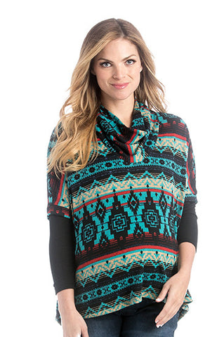 The Sloane Top in Multi-Color Print is a sweater that is perfect for women and pregnancy.