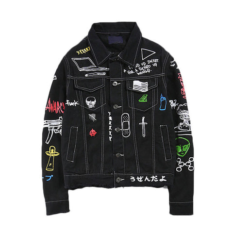 Japanese Graffiti Denim Jacket