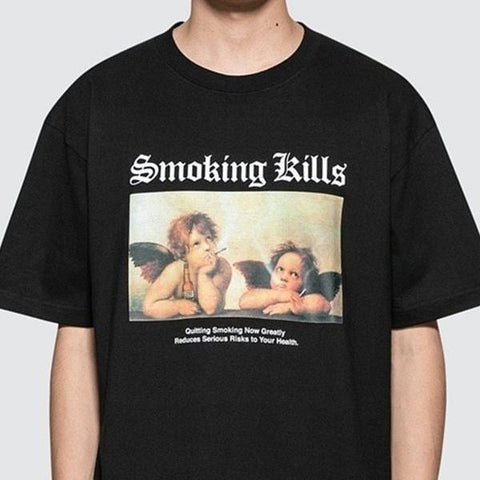 """Smoking Kills"" Angels Tee"