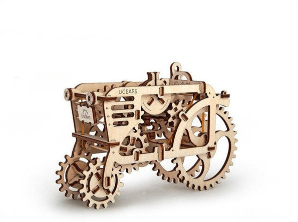 3d wooden mechanical model of tractor