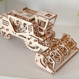 Wooden Combine (Harvester) - Ugears Mechanical 3d Puzzle Tinker Toy