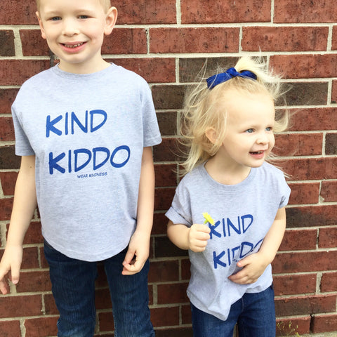 Kind Kiddo Classic T-Shirt Grey - CLOSE OUT