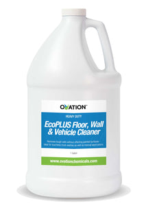 Ovation Heavy Duty EcoPLUS Floor, Wall & Vehicle Cleaner (1 Gallon) by Katan Technologies