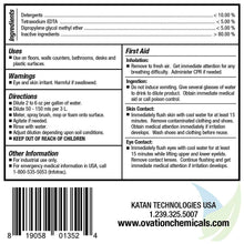 Ovation All Purpose Neutral Cleaner Label Instructions