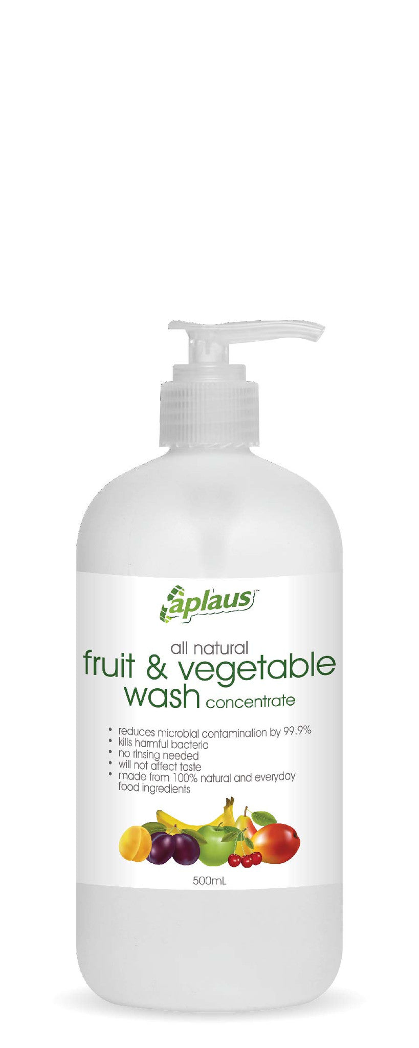 Aplaus All Natural Fruit & Vegetable Wash Concentrate