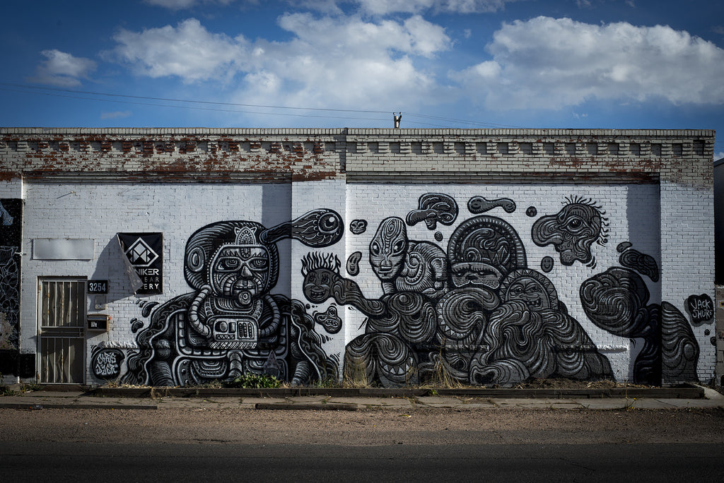 Artwork by Jack Shure in RiNo, Denver