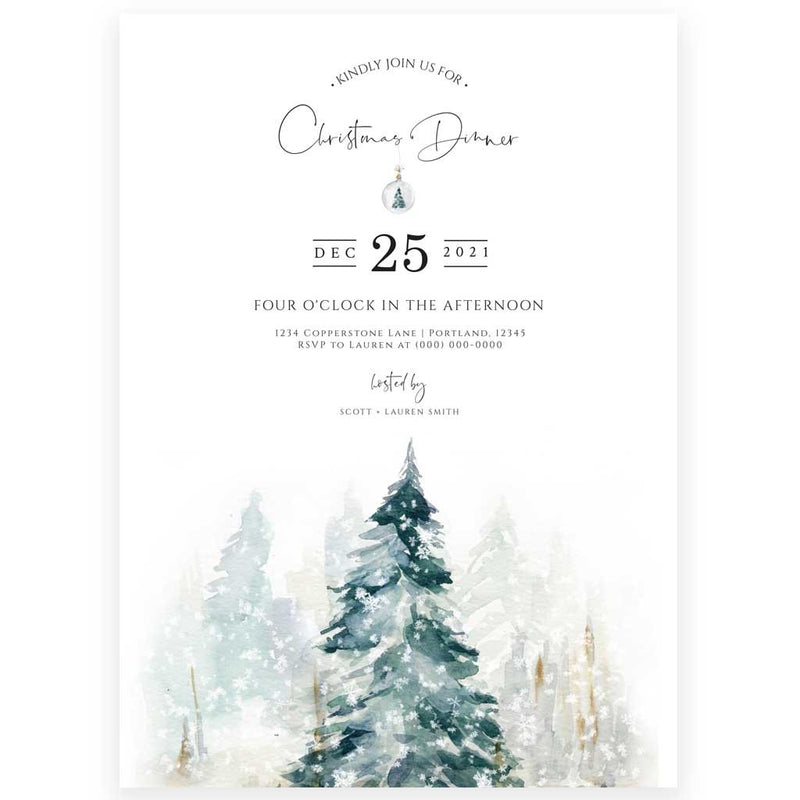 Edit Yourself Christmas Dinner Invitation | www.foreveryourprints.com