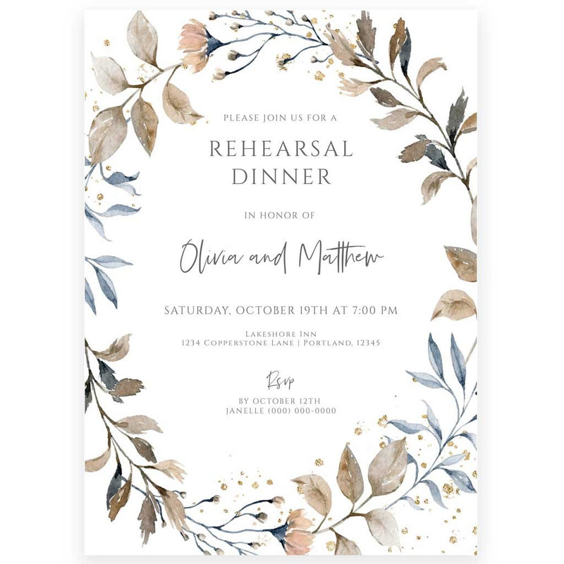 Rustic Rehearsal Dinner Invitation | www.foreveryourprints.com
