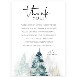 Winter Thank You Card | Forever Your Prints