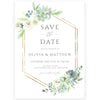 Botanical Save The Date Invitation | www.foreveryourprints.com