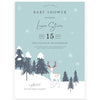 Woodland Winter Baby Shower Invitation | www.foreveryourprints.com