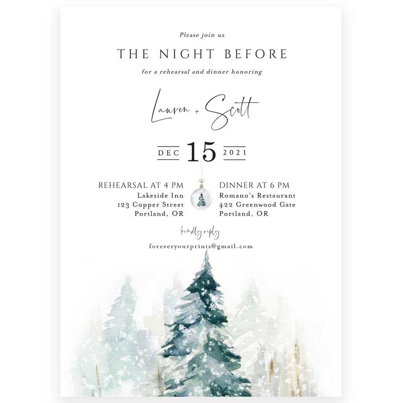 Edit Yourself Wedding Rehearsal Dinner Invitation | www.foreveryourprints.com