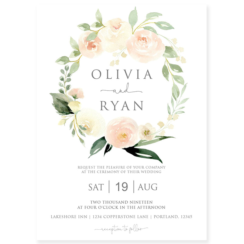 Edit Yourself Wedding Invitation | www.foreveryourprints.com