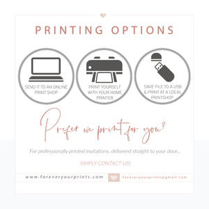 Editable Invitations by Forever Your Prints | www.foreveryourprints.com