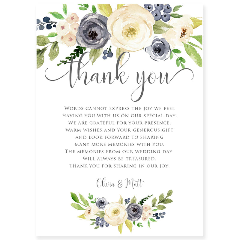 Edit Yourself Thank You Card | www.foreveryourprints.com