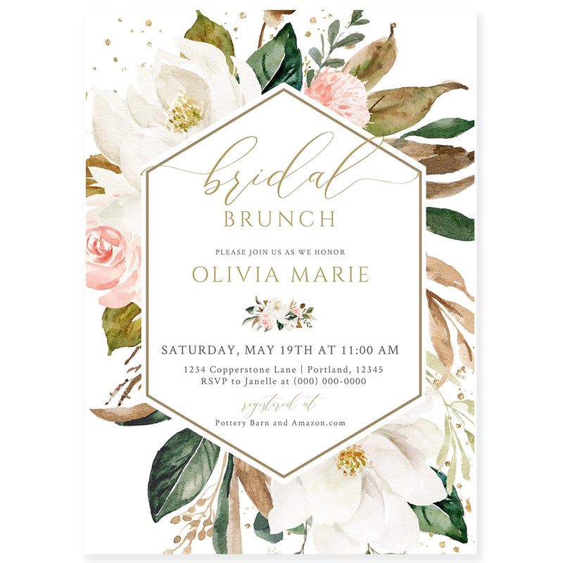 Editable Bridal Brunch Invitation | www.foreveryourprints.com