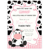 Cow Birthday Party Invitation | www.foreveryourprints.com