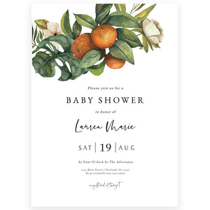 Citrus Baby Shower Invitation | www.foreveryourprints.com