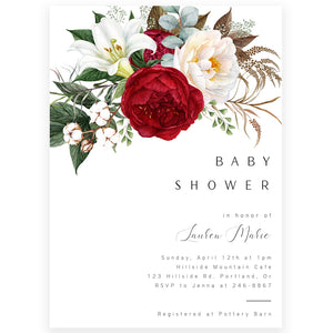 Botanical Baby Shower Invitation | www.foreveryourprints.com