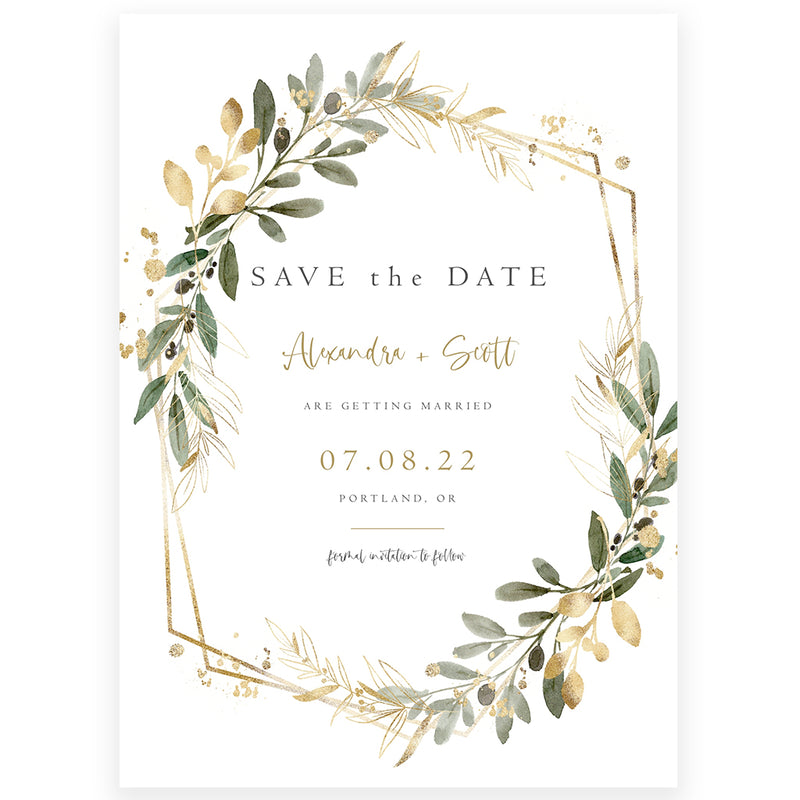 Greenery Save The Date Invitation | www.foreveryourprints.com