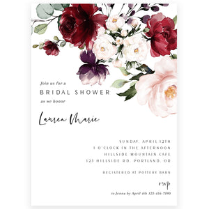 Bohemian Bridal Shower Invitation | www.foreveryourprints.com