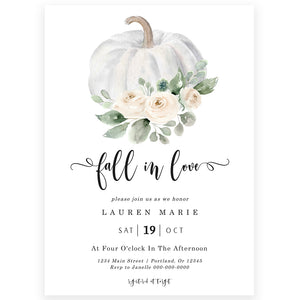 Fall Bridal Shower Invitation| www.foreveryourprints.com