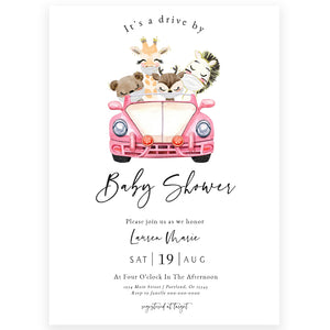 Drive By Baby Shower Invitation | www.foreveryourprints.com