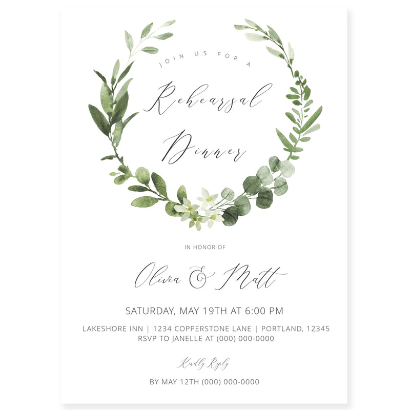 Editable Rehearsal Dinner Invitation | www.foreveryourprints.com