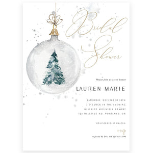 Winter Evergreen Bridal Shower Invitation | www.foreveryourprints.com