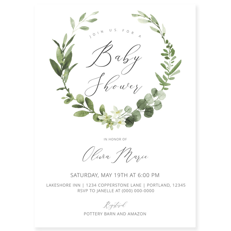 Editable Baby Shower Invitation | www.foreveryourprints.com