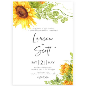 Sunflower Wedding Invitation | www.foreveryourprints.com