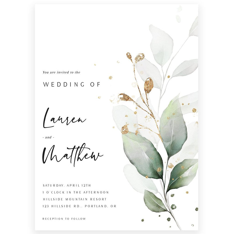 Eucalyptus Wedding Invitation | www.foreveryourprints.com