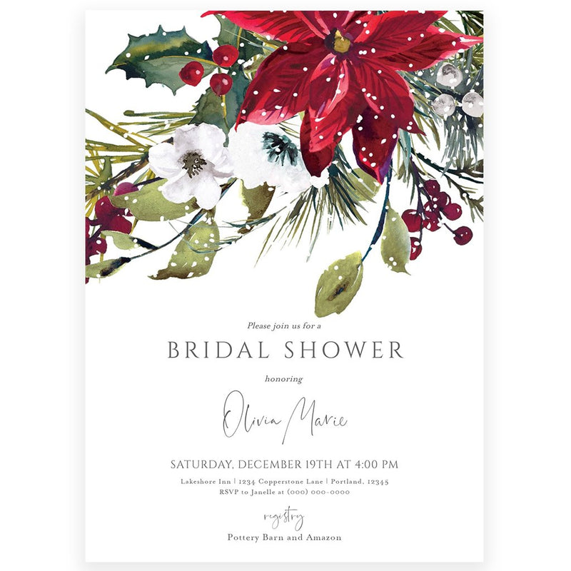 Winter Bridal Shower Invitation | www.foreveryourprints.com