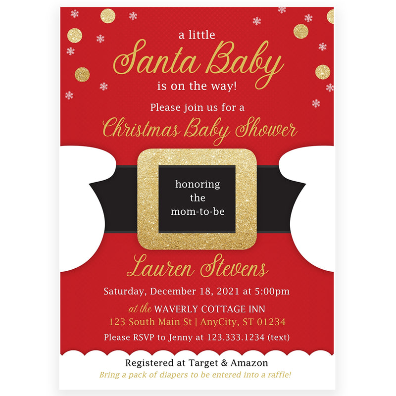 Santa Baby Shower Invitation | www.foreveryourprints.com